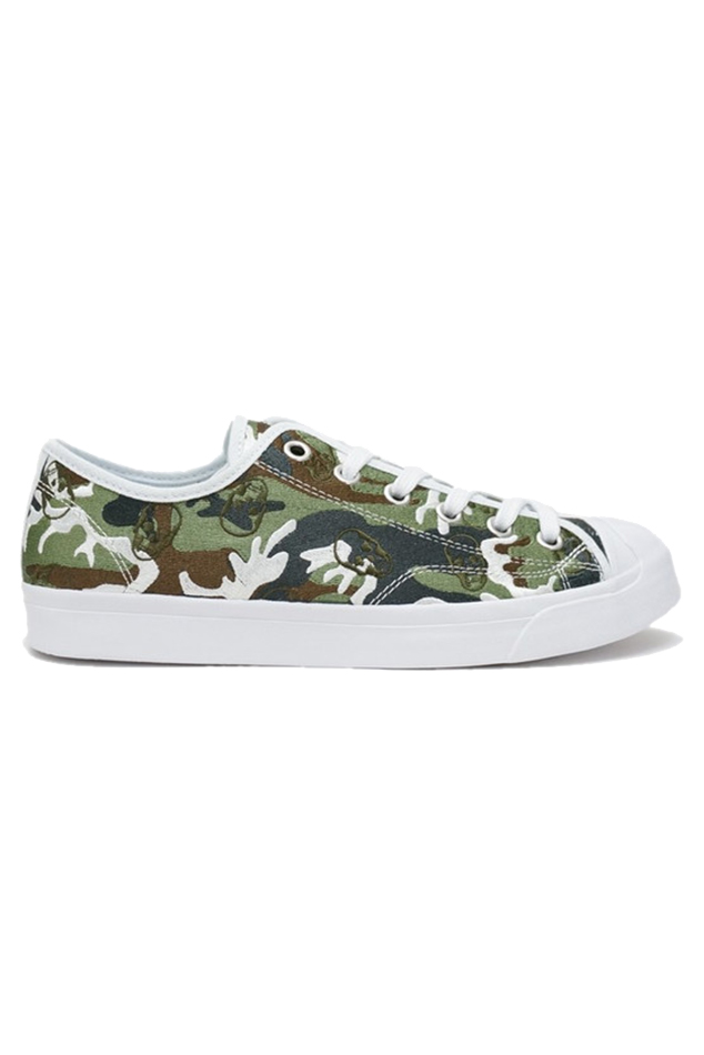 Lucien Pellat-Finet Classic Camo Sneaker Shoes in Light Classic Camouflage, Size 10