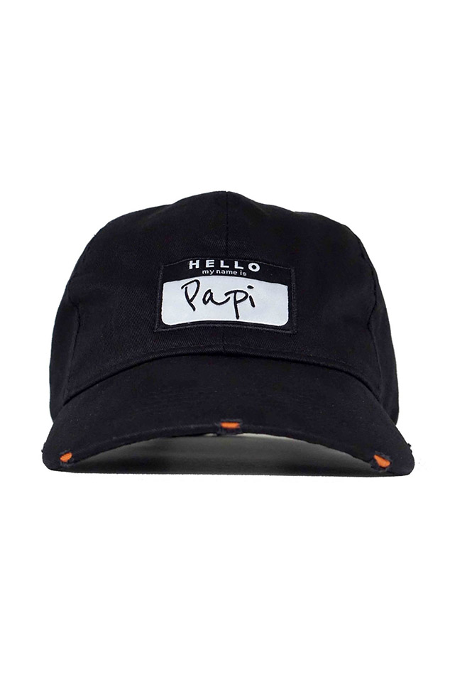 Head Crack NYC Papi Dad Hat in Black