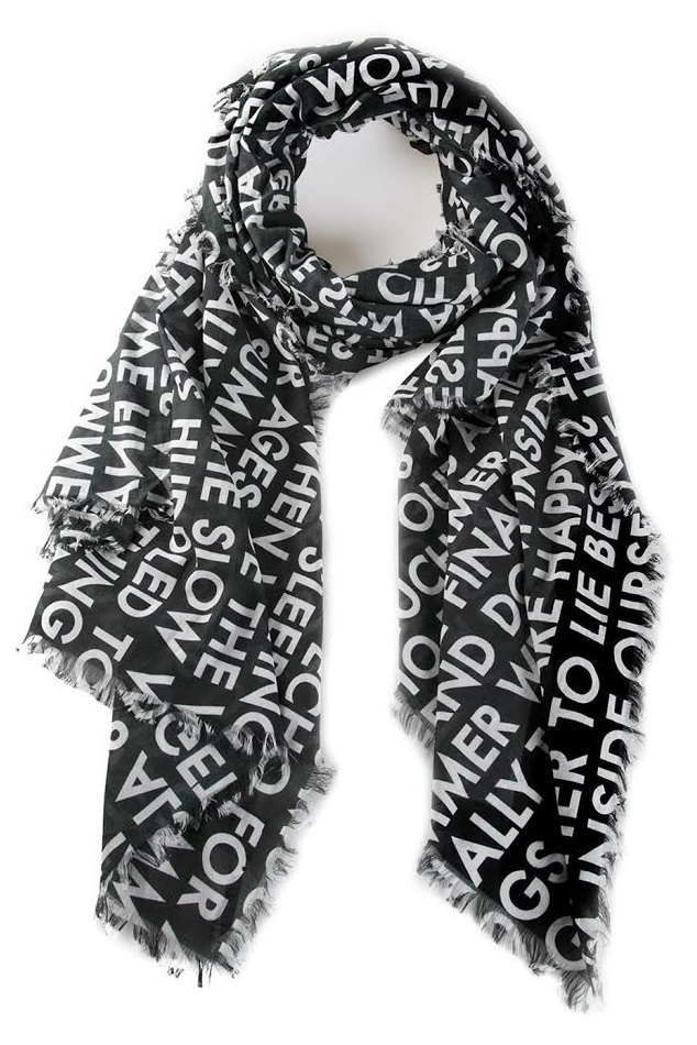 Women's Each X Other Pareo Scarf in Black/White