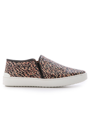 Free Shipping 2018 Newest Rag & Bone Woman Printed Textured-leather Slip-on Sneakers Orange Size 36 Rag & Bone Discount Low Price Discount Lowest Price Cheap Sale Professional fstCT1FV
