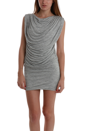 Wayne Ruched Dress in Grey